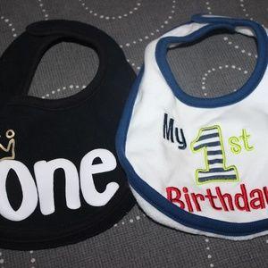 Other - 1st birthday Bibs